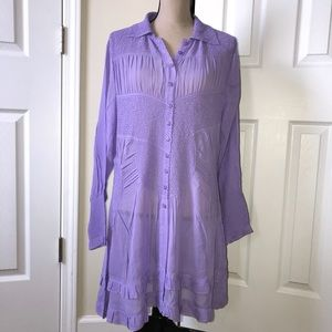 NEW Jerry T New York Lavender Tunic Dress Top 1x